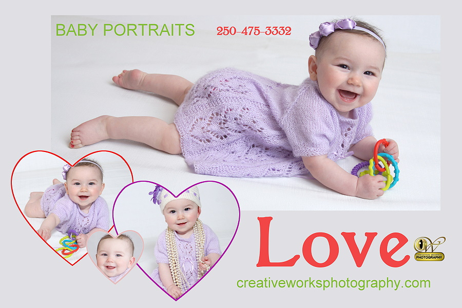 Theme baby portraiture babies in art and poster setups
